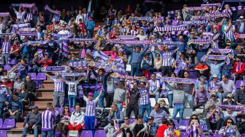 La afición del Valladolid en el Estadio José Zorrilla (Real Valladolid)