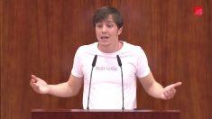 Eduardo Rubiño durante una intervención en la Asamblea de Madrid