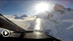 Imagen desde el helicóptero.
