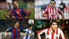 Simao Sabrosa, Sergi Barjuan, Luis García y Julio Salinas jugaron en el Atlético y Barcelona.
