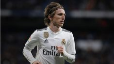 Luka Modric durante un partido con el Real Madrid. (Getty)