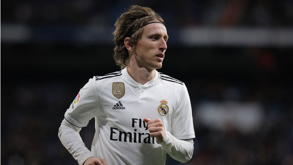 Luka Modric durante un partido con el Real Madrid. (Getty)