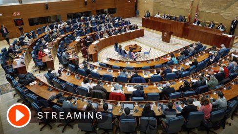 La Asamblea de Madrid durante el pleno de la constitución de la cámara regional