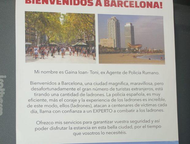 Ex policías del Este se ofrecen como guardaespaldas a los turistas en la insegura Barcelona de Colau