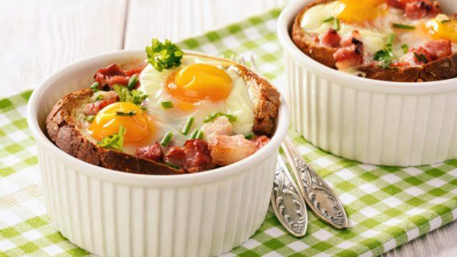 Receta de huevos con queso y jamón