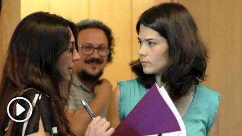 Isabel Serra (Podemos) en la Asamblea de Madrid. (Foto. EP)