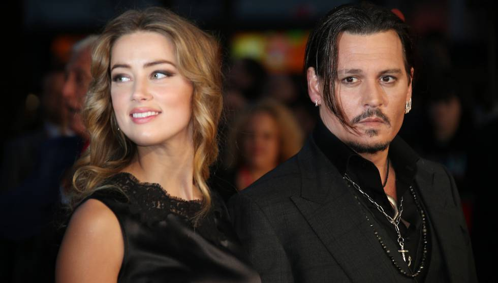 Johnny Depp con Amber Heard