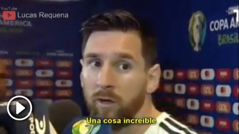 La canción de Messi es viral.