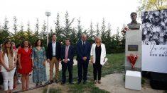 Pablo Casado, Almeida y Marimar Blanco en el homenaje a Miguel Ángel Blanco. Foto: Europa Press