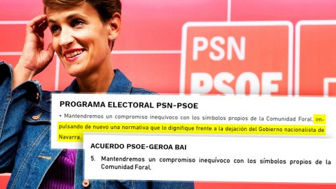 La cesión de María Chivite a los nacionalistas sobre los símbolos de Navarra