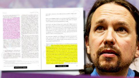 Iglesias reproduce en su tesis doctoral extractos de artículos ya publicados y que evita citar.