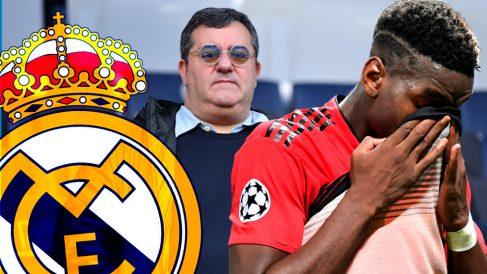 Pogba y Raiola, un dúo que trae de cabeza al Real Madrid.