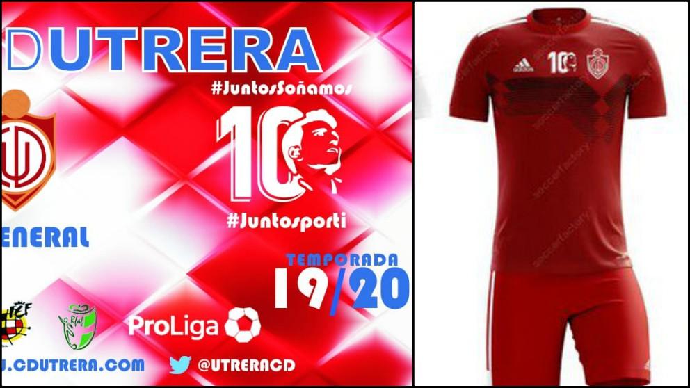 Abono y camiseta del Utrera para la próxima temporada en homenaje a Reyes. (CD Utrera)