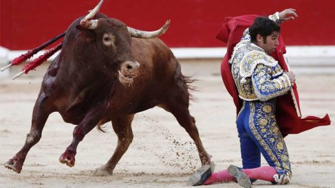 Cayetano Rivera Ordóñez en Pamplona. Foto: EFE
