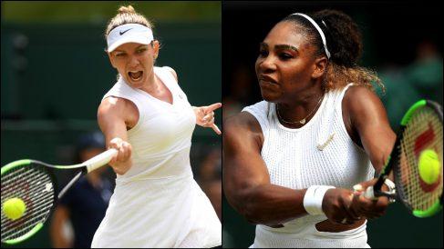 Simona Halep y Serena Williams se enfrentarán en la final femenina de Wimbledon.