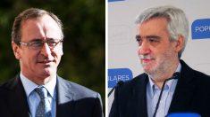 Alfonso Alonso, presidente del PP vasco, y el juntero Juan Carlos Cano