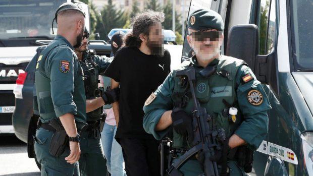 Momento de la detención del Yihadista en Pamplona.