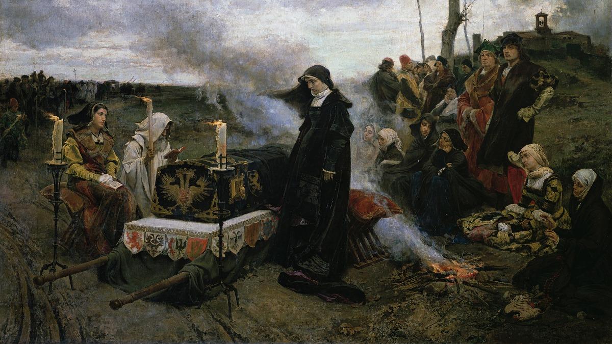 Cuadro 'Doña Juana la Loca' de Francisco Pradilla