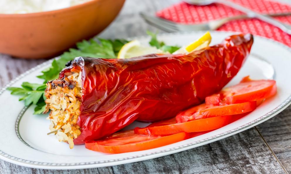 Receta de Chiles rellenos de quinoa y carne picada