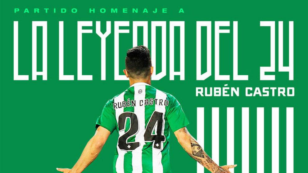 Rubén Castro será homenajeado por el Betis (Real Betis)