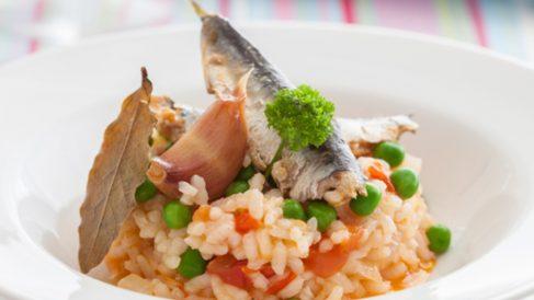 Arroz con sardinas