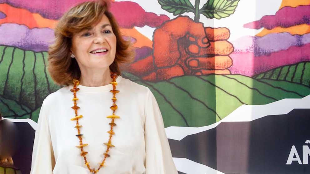 Carmen Calvo dice que el feminismo «no es de todas» las mujeres: «Nos lo hemos currado los socialistas»