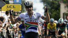 Daryl Impey, celebra una victoria. (AFP)