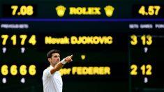 Djokovic celebra un punto. (Getty)