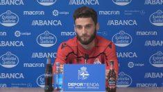 Domingos Duarte en una rueda de prensa con el Deportivo (RCDeportivo)