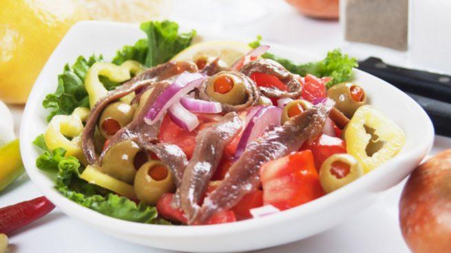 Receta de ensalada de pimientos y anchoas