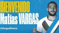 Matías 'Monito' Vargas, nuevo fichaje del Espanyol (RCD Espanyol)