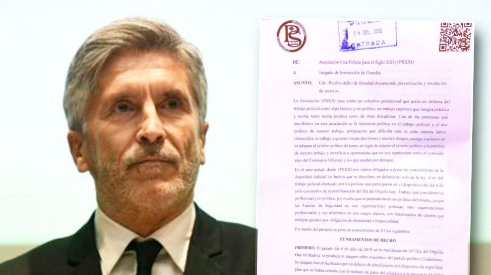 Denuncia policial contra el informe 'fake' de Marlaska contra C's.