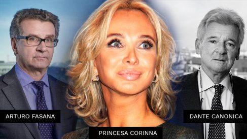 Arturo Fasana, Princesa Corinna y Dante Canonica