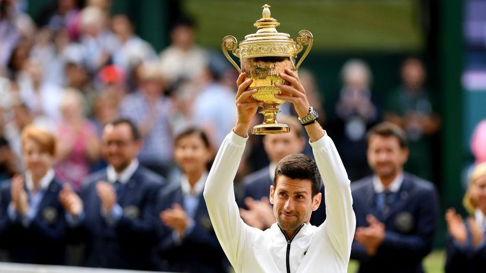 Djokovic celebra Wimbledon. (Getty)