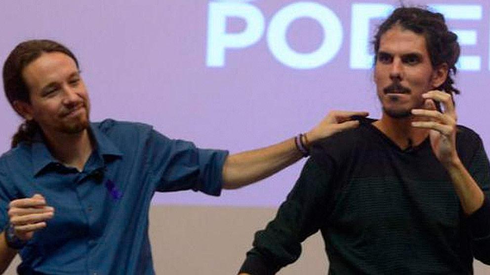 Pablo Iglesias y Alberto Rodríguez. (Foto: Podemos)