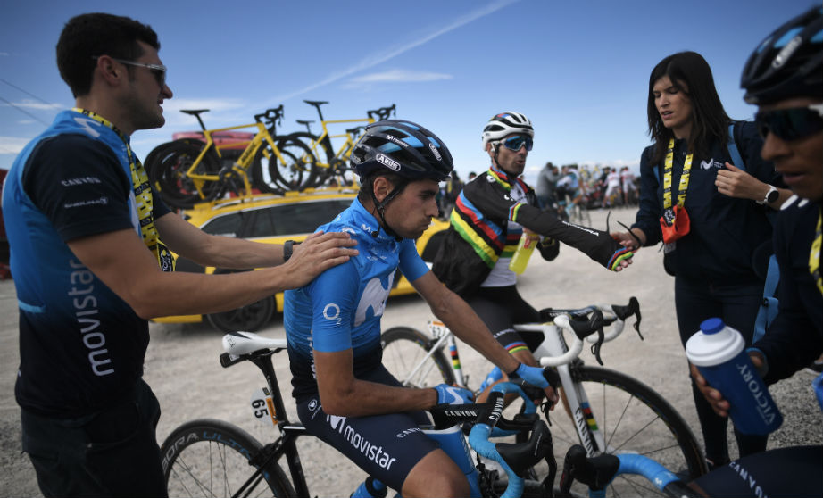 Mikel Landa se lamenta durante el Tour de Francia. (AFP)