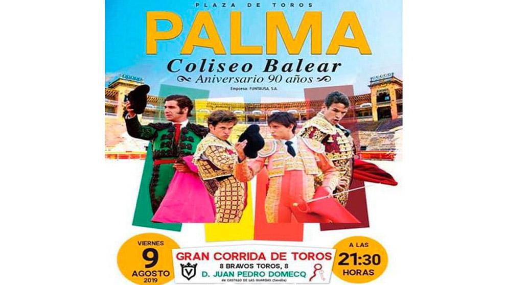Cartel del regreso de los toros a Palma de Mallorca.