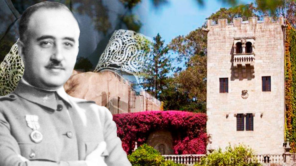 Franco junto al Pazo de Meirás.