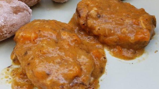 Filetes de soja texturizada en salsa