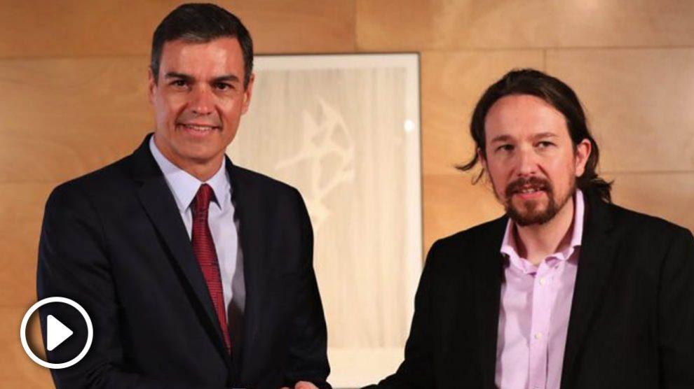 Pedro Sánchez y Pablo Iglesias. (Foto. PSOE)