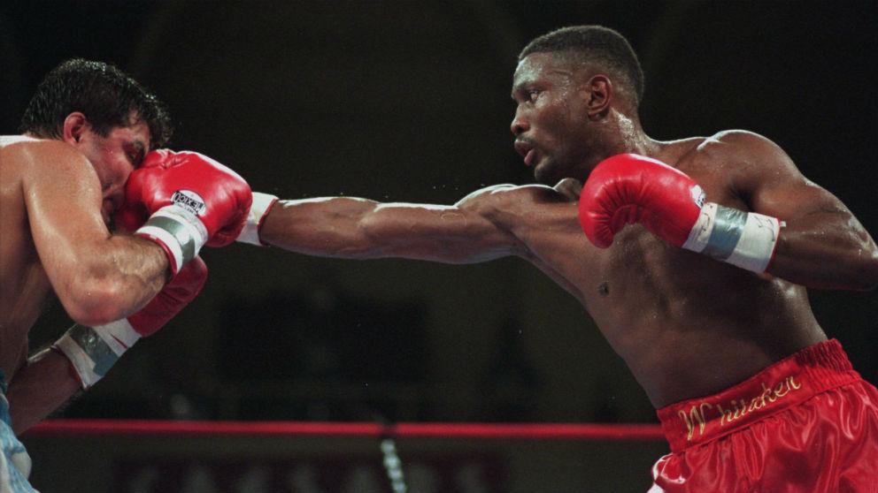 Pernell Whitaker durante un combate. (Getty)