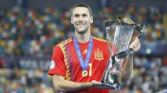 Alfonso Pedraza, campeón de Europa Sub-21 con España (@Alfonsopedraza9)