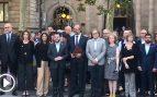 Quim Torra y varios consellers arropan a Miquel Buch a su entrada al TSJC. Vídeo: Edu Moreno