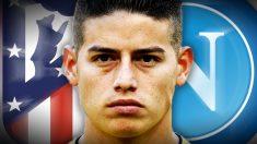 El 22 de julio, fecha límite para el fichaje de James por Nápoles o Atlético.