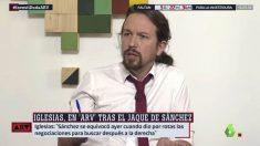 Pablo Iglesias en la entrevista de La Sexta