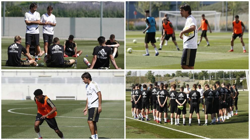 Raúl dirigió su primer entrenamiento como entrenador del Castilla.
