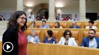 La diputada de UP por Podemos en La Rioja Raquel Romero ha rechazado este martes apoyar a la candidata socialista. Foto: EFE