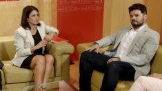 Gabriel Rufián y Adriana Lastra antes de la reunión