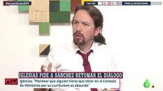 Pablo iglesias durante su entrevista a 'Al Rojo Vivo'