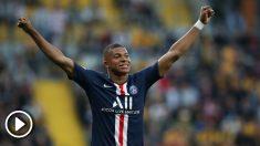 Mbappé marcó un doblete en el primer partido de pretemporada del PSG. (AFP)